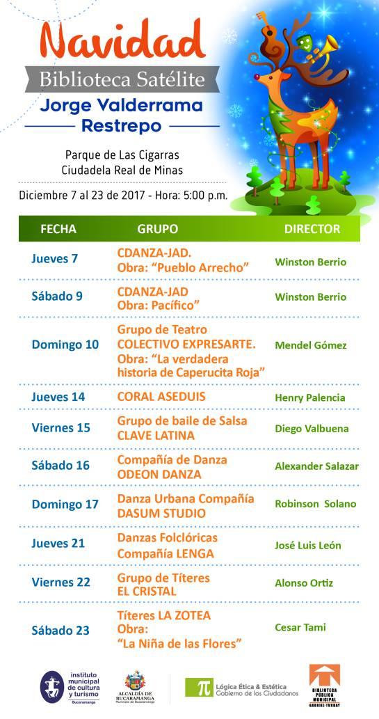 Programación Navideña Biblioteca Satélite Jorge Valderrama Restrepo: Navidad, arte y música, cultura al cierre del año