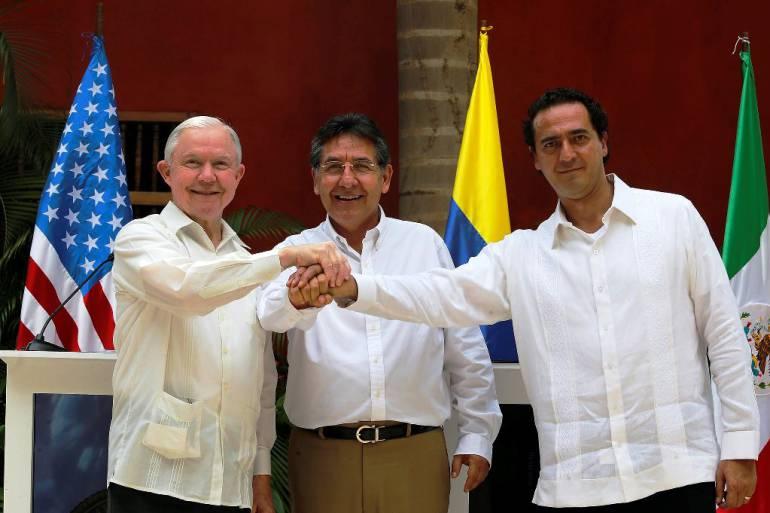Fiscales de Colombia, EE.UU. y México anuncian estrategias de cooperación: Fiscales de Colombia, EE.UU. y México anuncian estrategias de cooperación