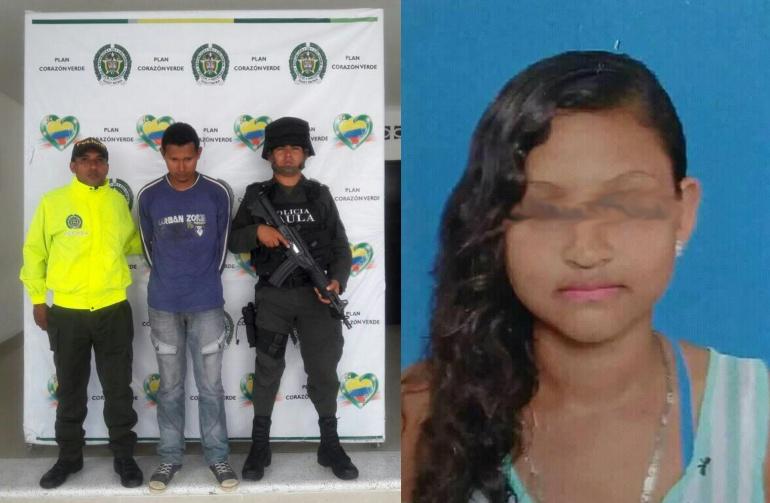 Foto capturado por homicidio y violacion de una niña en Sincelejo, cuartillas enviadas, foto /Policia