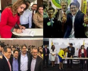 Luz Piedad Valencia, Jaime Alberto Martínez Hernando Márquez y Aydeé Lizarazo.