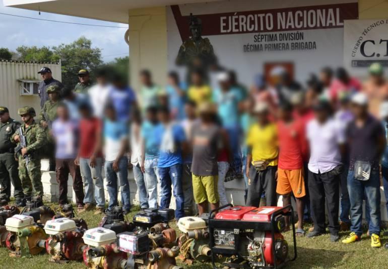 Redada contra explotación ilegal de minería deja 27 capturados en Boyacá: Redada contra explotación ilegal de minería deja 27 capturados en Boyacá