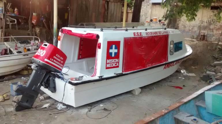 ESE Río Grande de la Magdalena recupera ambulancia fluvial para el Coyongal: ESE Río Grande de la Magdalena recupera ambulancia fluvial para el Coyongal