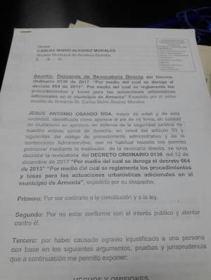 CONSTRUCCIÓN: Demandan el decreto que derogó la norma sobre las compensaciones urbanísticas en Armenia