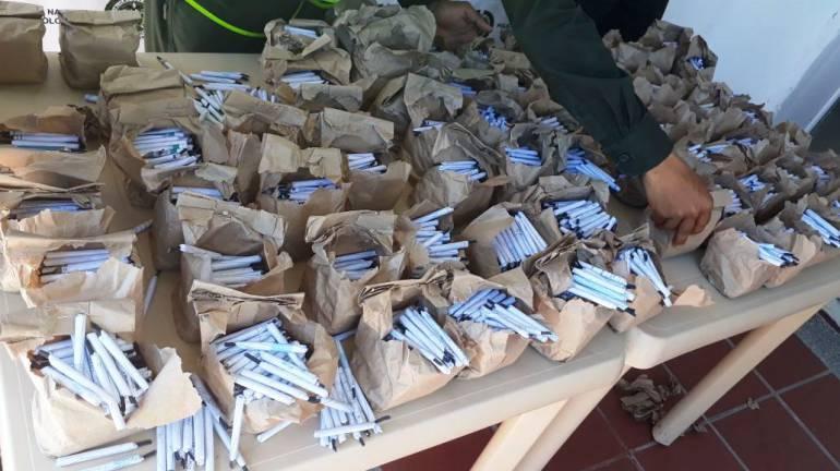 Siete mil totes fueron decomisados por la policía de Bolívar en Magangué: Siete mil totes fueron decomisados por la policía de Bolívar en Magangué