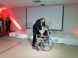 Reconocimiento deportista capacidades especiales: Edwin Mayorga, tenis de campo en silla de ruedas