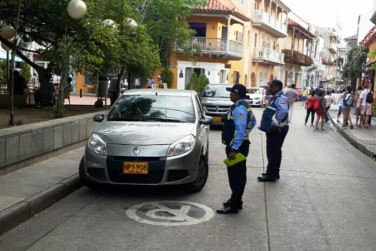 Prohiben tránsito vehicular en 53 calles del centro histórico de Cartagena: Prohiben tránsito vehicular en 53 calles del centro histórico de Cartagena