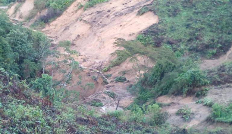 Ibagué Deslizamientos de tierra: Deslizamientos de tierra afectan zona rural de Ibagué