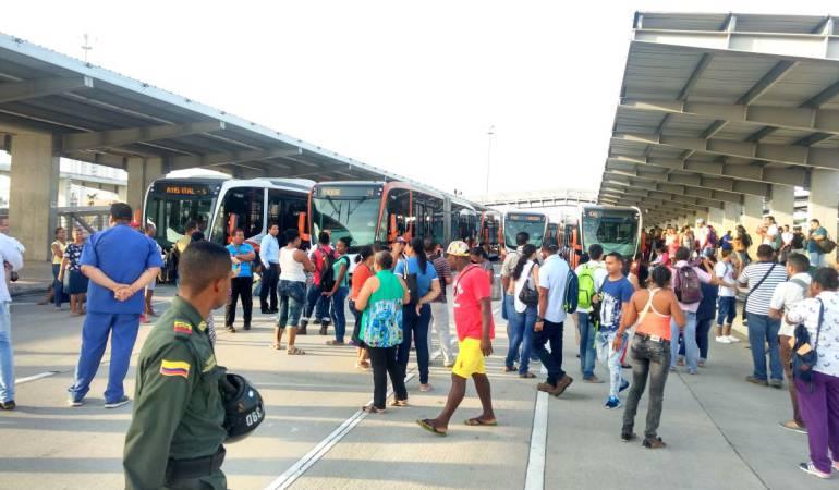 Siguen las protestas contra Transcaribe en Cartagena