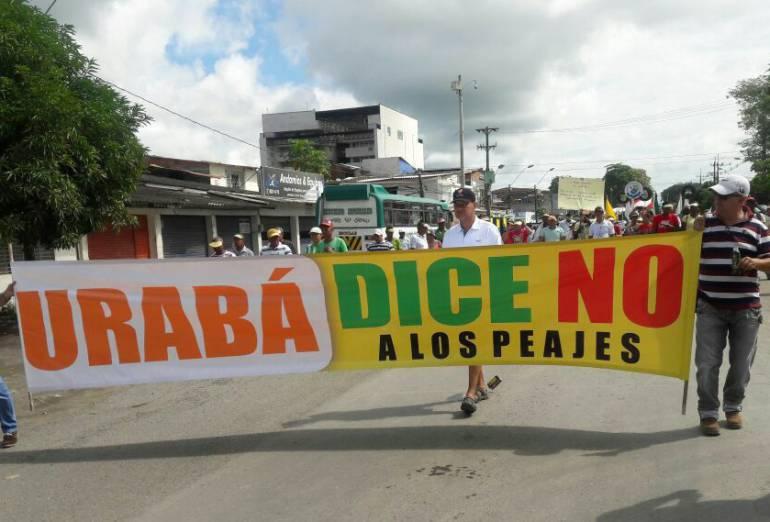 Gobierno suspenderá cobro de peajes de Urabá por una semana