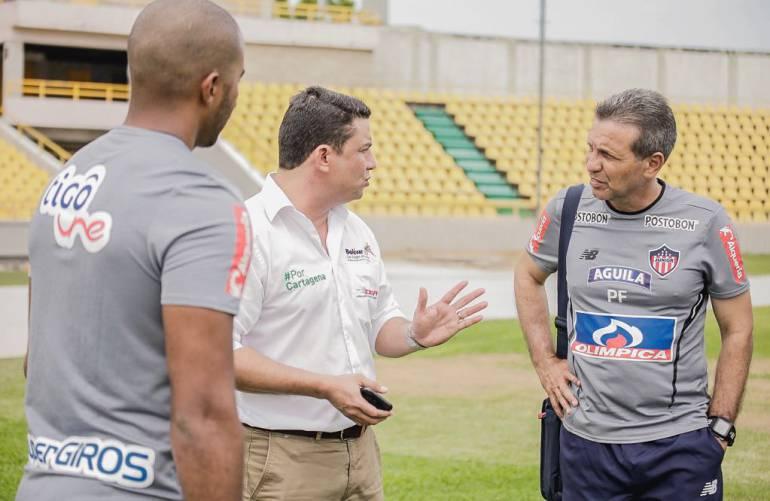 Inspeccionan estadio de Cartagena previo al cuadrangular de fútbol profesional: Inspeccionan estadio de Cartagena previo al cuadrangular de fútbol profesional
