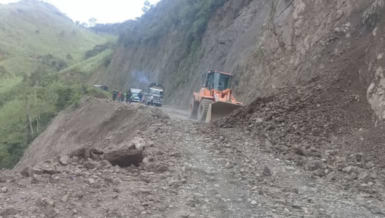 Siguen las dificultades en la vía entre Risaralda y Chocó
