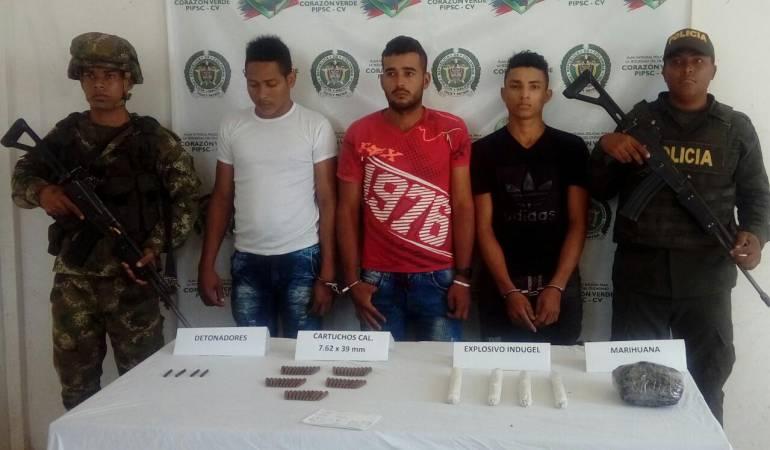 Capturan a tres presuntos integrantes del ELN en el sur de Bolívar