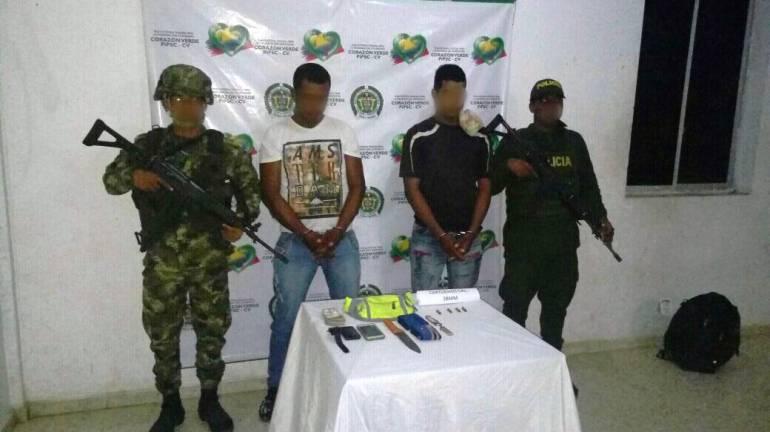 Capturan a dos hombres en Río Viejo, Bolívar, por violencia contra servidor público