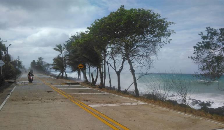 Frente frío en el Caribe ahora es 'estacionario': CIOH de la Armada Nacional