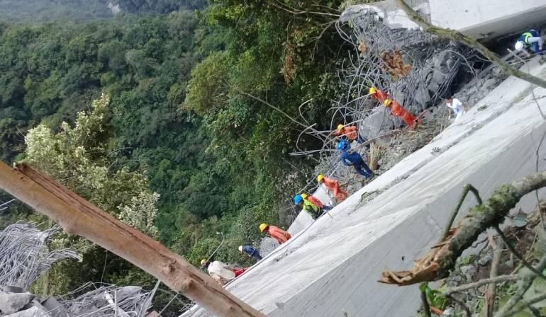 Un puente cae en Boyacá: Fuerte tormenta provocó el colapso de un puente en zona Esmeraldera de Boyacá