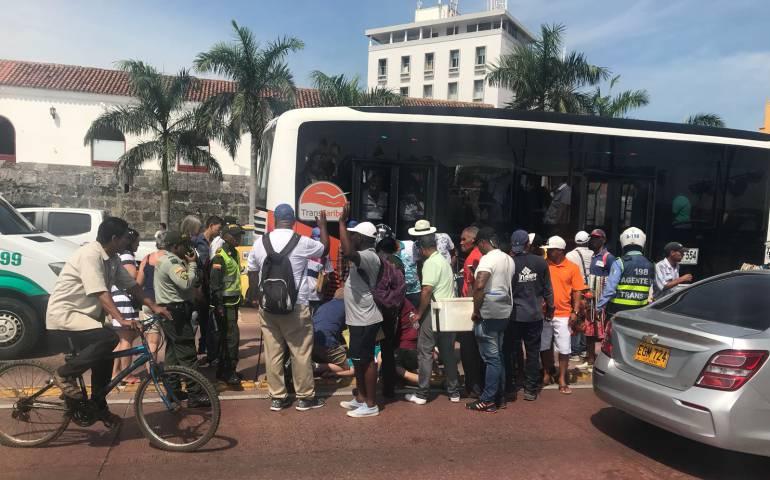 Murió turista brasilero atropellado por un bus de Transcaribe