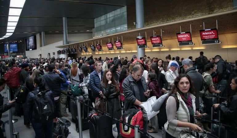 Aeropuerto El Dorado falsa alarma: Error genera confusión en el aeropuerto El Dorado