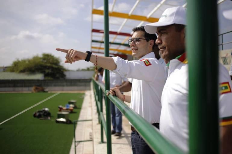 Obras de complejo deportivo del barrio La Candelaria en el oriente de Cartagena, en un 90%: Obras de complejo deportivo del barrio La Candelaria en el oriente de Cartagena, en un 90%