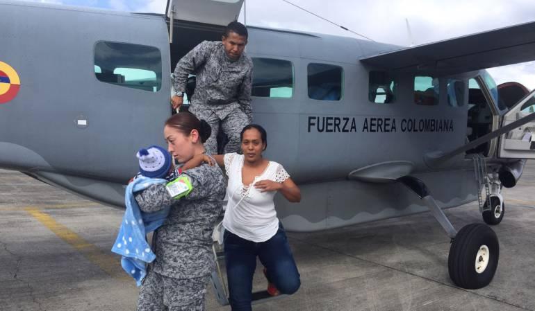 Fuerza aérea vida: Fuerza aérea salvó la vida de un bebé en Montería