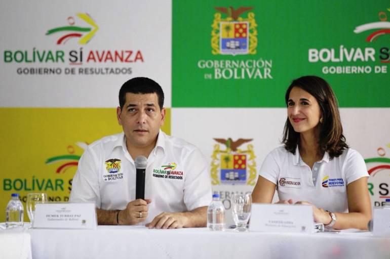 Gobernador Turbay y ministra Yaneth Giha, presentan resultados de 'Plan Bolívar por la Educación': Gobernador Turbay y ministra Yaneth Giha, presentan resultados de 'Plan Bolívar por la Educación'