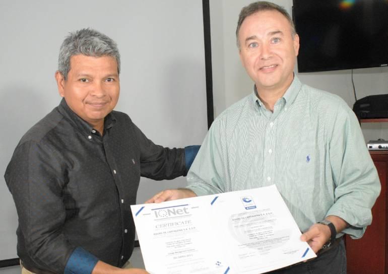 Certifican la eficiencia energética de Aguas de Cartagena: Certifican la eficiencia energética de Aguas de Cartagena