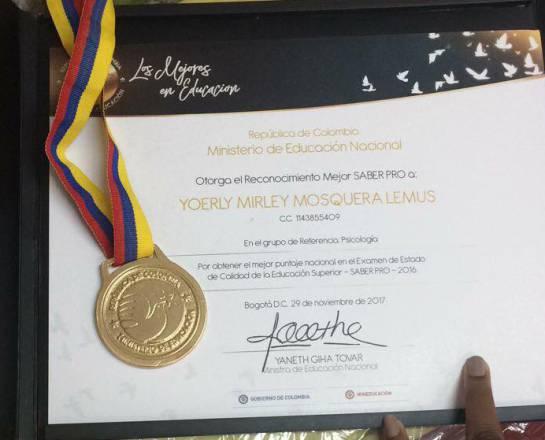 Egresada de la Universidad Cooperativa de Colombia obtuvo mejor puntaje