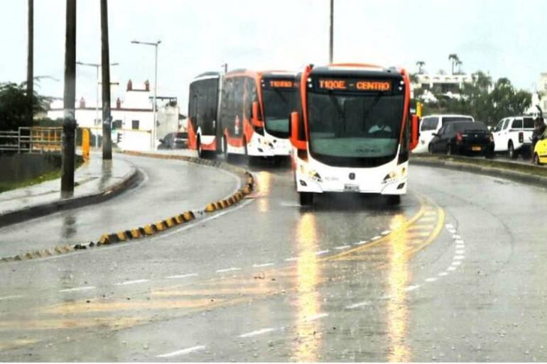 Fueron incorporados cuatro nuevos buses para reforzar rutas de Transcaribe: Fueron incorporados cuatro nuevos buses para reforzar rutas de Transcaribe