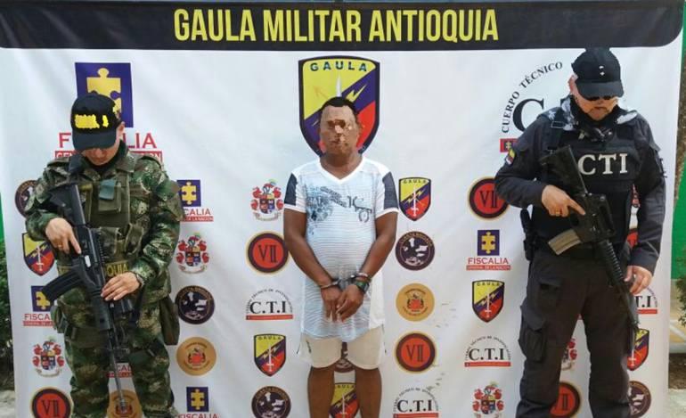 Capturado José Mercedes Berrío, alcalde de Cáceres, Antioquia