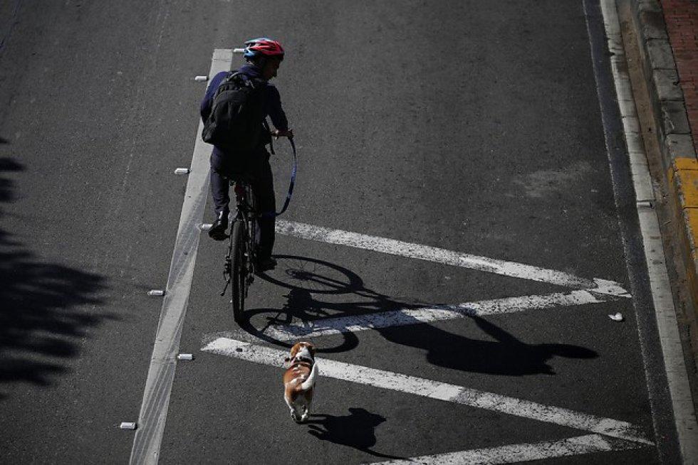 Día sin carro en Bogotá: [Fotos] Con éxito cerró nueva jornada de día sin carro en Bogotá