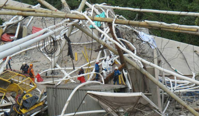 Puente de chirajara: Inician trabajos de remoción y limpieza del colapso del puente Chirajara