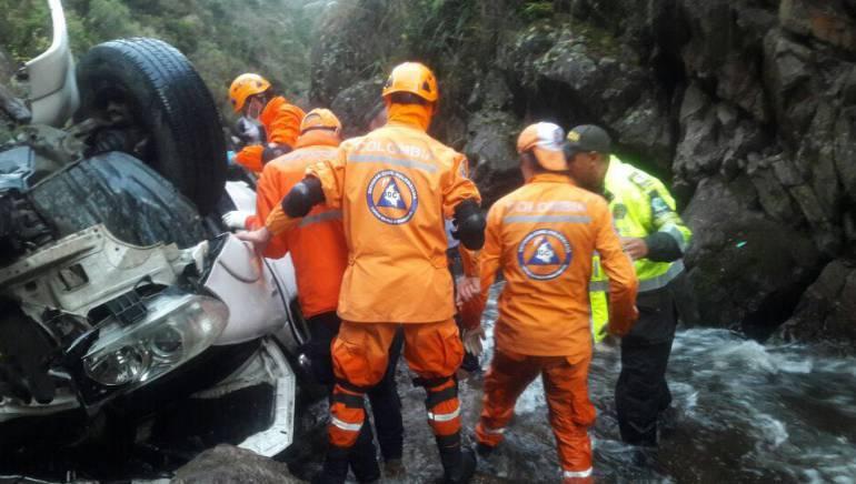 Un muerto y al menos 8 heridos en accidente en Susacón, Boyacá