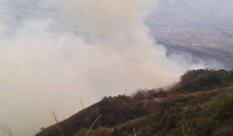 Riesgo por incendios forestales en municipios de Caldas