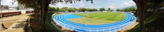 ESTADIO ATLETISMO UIS BUCARAMANGA PISTA ATLÉTICA: Quedó lista la pista de atletismo de la UIS