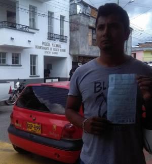 A través de redes sociales el joven multado compartió la foto con la multa