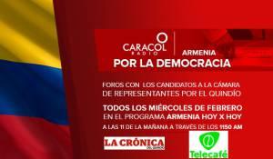 Caracol Radio, El Diario La Crónica del Quindío y el Canal Regional Telecafé