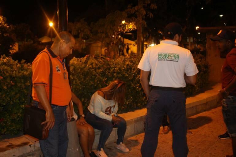 Operativos de control en el Centro de Santa Marta. /FOTO ALCALDÍA