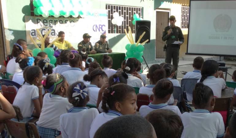 400 policías custodian los colegios del departamento de Bolívar