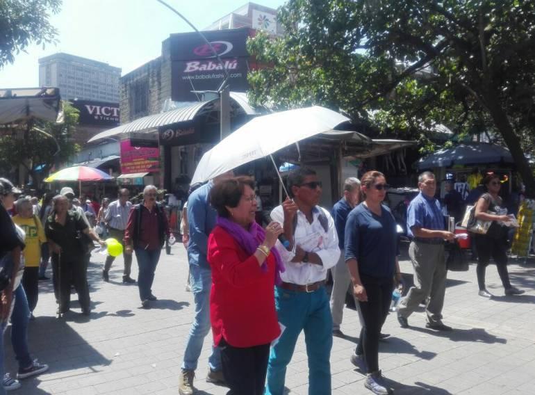 En Medellín fue agredida verbalmente la presidenta de la UP, Aida Avella