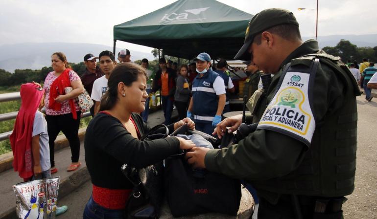 Migrantes venezolanos al llegar a Cúcuta