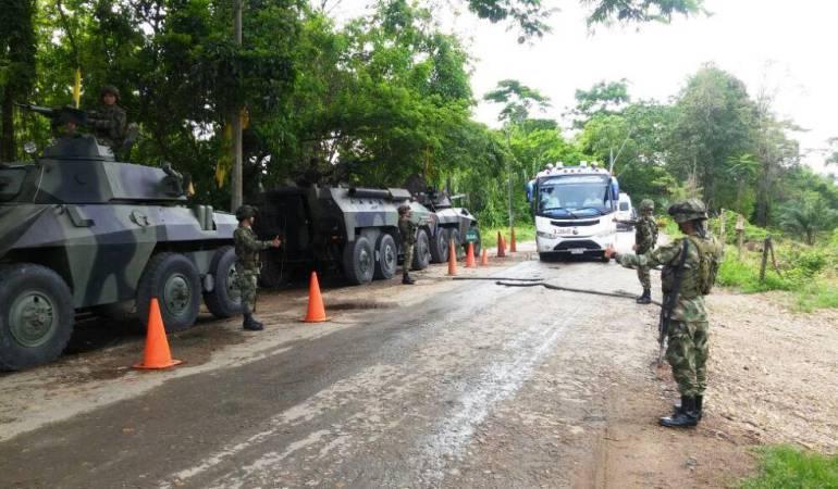 Caravanas de seguridad entre Risaralda y Chocó por paro del ELN