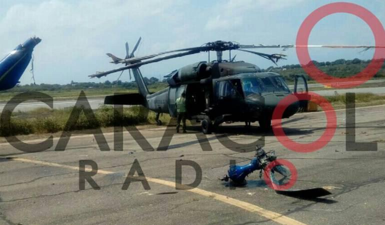 Incidente en aeropuerto Camilo Daza