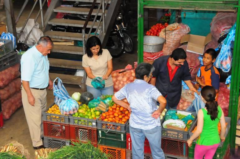 Escasez de alimentos del interior del país en mercado de Barranquilla