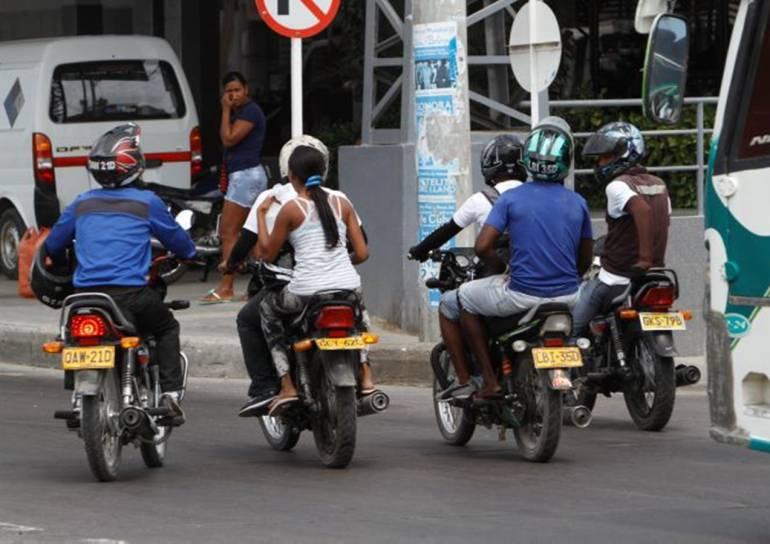 Ampliarán, a más barrios, prohibición de parrillero en moto en Cartagena: Ampliarán, a más barrios, prohibición de parrillero en moto en Cartagena