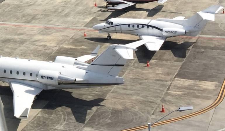 Aviones mexicanos fueron retenidos en Pereira por inconsistencias aduaneras
