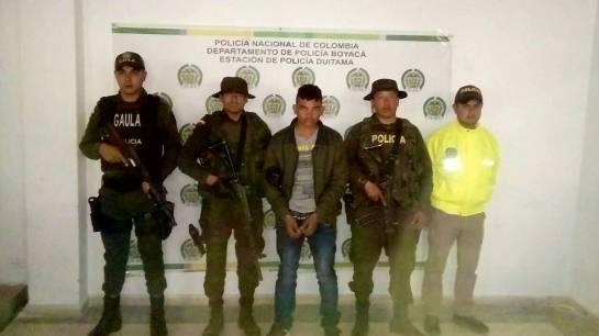 Capturan en Boyacá a venezolano presunto guerrillero del ELN: Capturan en Boyacá a venezolano presunto guerrillero del ELN