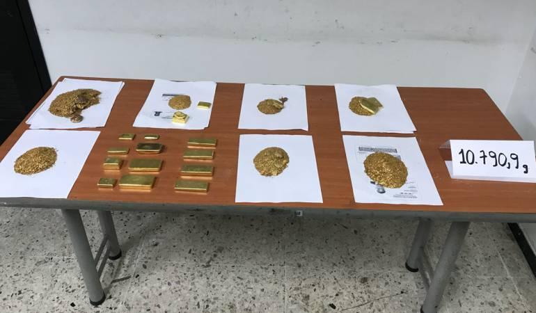 Incautan oro: Decomisan oro avaluado en $1.000 millones en el Aeropuerto Alfonso Bonilla