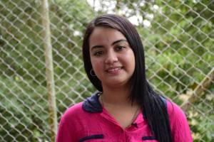 Claudia Leyva, octavo semestre de Administración de Empresas en la Universidad del Sinú.