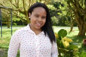 Kiara Marcelo, décimo semestre de Trabajo Social en la Universidad de Antioquia.