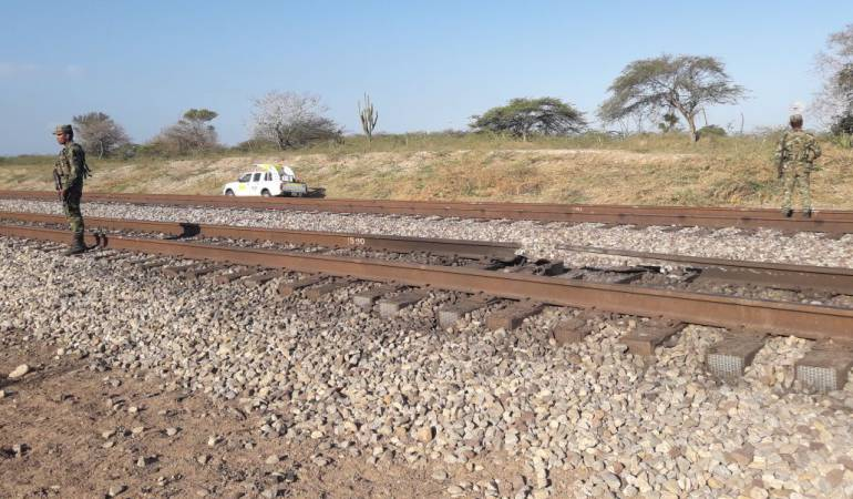 Atentado contra vía ferrea en la Guajira: Atentan contra la vía férrea del Cerrejon en la Guajira