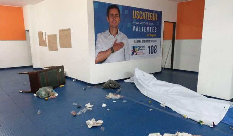 Atacan sede de un partido político en Bogotá: Concejal denuncia ataque a sede del Centro Democrático en Bogotá